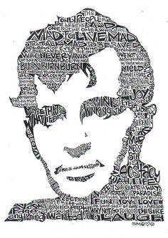 Jack Kerouac black and white word portrait