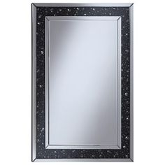 Accent+Mirrors+Wall+Mirror+with+Black+Jewel+Frame