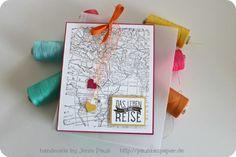 Stampin'Up! World Map Wedding Invitation Hochzeitskarte