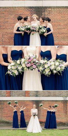 navy blue bridesmaids, image by Georgi Mabee Photography