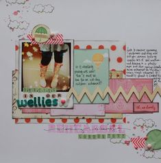 #papercraft #scrapbook #layout  scrapbook page by shimelle laine @ shimelle.com