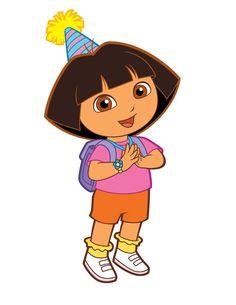 Dora con gorrito de cumpleaños