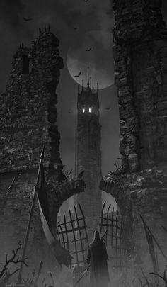 Torre si Isgmar: (vampiri) rivela le prime 3 carte del mazzo imprevisi/mostri poi scegline una