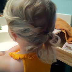 loose casual side braid for a little girl