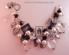 Antique Style Catholic Virgin Mary, Religious Saints Medals Charm Bracelet | eBay www.letyscreations.com
