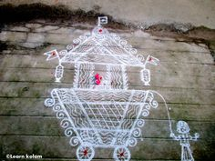 Chariot kolam for Thiruvathirai festival/Lord Shiva. Festival Rangoli, Padi Kolam, Lord Shiva, Holiday Decor, Pictures, Home Decor, Photos, Decoration Home, Room Decor