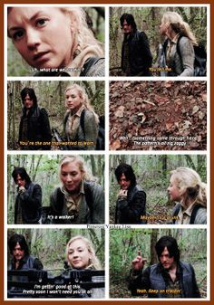Daryl Dixon - Norman Reedus and Beth Greene - Emily Kinney - AMC's The Walking Dead