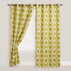 Citrus Ikat Curtain | World Market