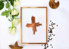 Real Gold Foil Cross Print, Minimal Wall Art, Home Decor, Cross Gold Foil, Abstract Art, Scandinavian Print, Modern Decor, Minimalist Poster. Every poster is designed with love by us. We make it beautiful by adding shining gold or silver foil finish handmade to our prints.