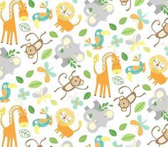 Jungle Animal Name Words Blue Cotton Fabric Studio E Jungle Camp By The Yard