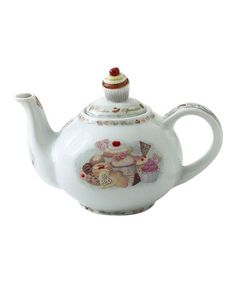 Take a look at this Cupcakes & Cookies 18-Oz. Teapot by Cardew Design on #zulily today!