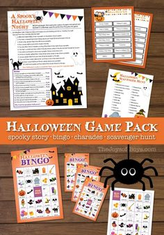 These printable Halloween games are so fun! Even adults will love them. Halloween party planning has never been so easy! #Halloween #halloween2017  #HalloweenParty #halloweengames