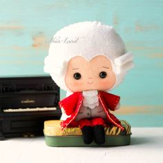 PDF. Mozart. Plush Doll Pattern Softie Pattern Soft felt Toy
