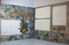 Timberline scrapbook layout