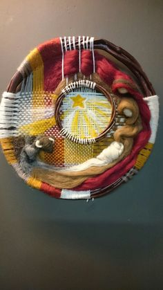 Pesebre en lana. Telar y vellon modelado.Taller Monalisa, JAWI FIELTRO.