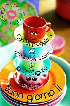 Buona giornata Morning Images, Good Morning Quotes, Italian Greetings, Italian Memes, Night, Disney, Photos, Bonjour, Good Morning Funny