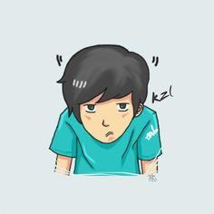 saat.saat terasa... kzl #kandapati #artwork #illustration #drawing #paint #digital #character #fell #kzl