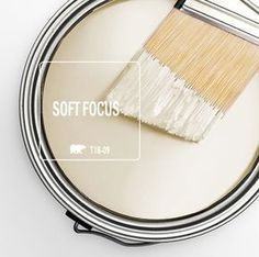 Behr Color of the Month: Soft Focus (office wall cabinets paint colours) Interior Paint Colors, Paint Colors For Home, House Colors, Paint Colours, Interior Design, Paint Colors For Hallway, Cottage Paint Colors, Cream Paint Colors, Wall Colors