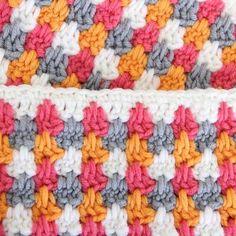 granny spike crochet stitch granny stripe