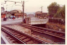 Paso a nivel de la antigua estación de ferrocarril de Las Arenas (ref. SN00183)