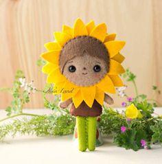 PDF Pattern. The Rose and Sunflower faeries. Plush por Noialand