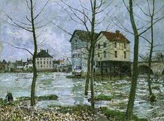 Alfred Sisley - The Mills at Moret-sur-Loing, Winter