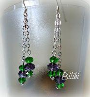 Bilibì: orecchini verde-viola