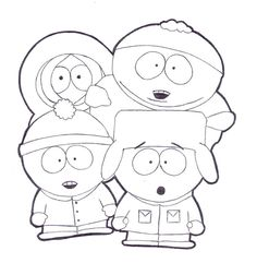 Coloring pages south park - Kiel | Adult Cartoon Colouring Pages ...
