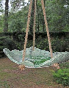 Make a bird feeder or bird bath with clay!