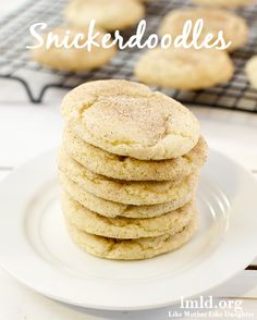 The perfect snickerdoodle cookies. Sweet and tart and coated with cinnamon sugar! #lmldfood