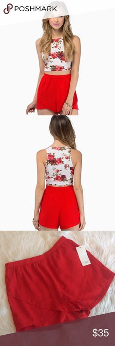 """💙💙 NWT RED SUNSHINE BOULEVARD SHORTS B18 Condition: NWT  Approximate measurements (laying flat): 13.25"""" waist 12.5"""" length 1.25"""" inseam  Material: 100% polyester  Item location: bin 18  **bundles save 10%** no trades/no modeling/no asking for lowest Tobi Shorts"""