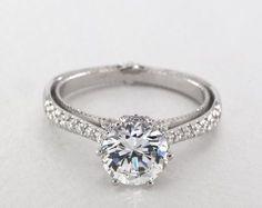 Platinum Couture Engagement Ring by Verragio
