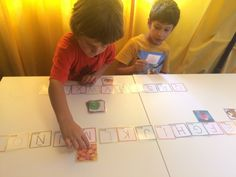 I like this activity because it helps students build knowledge of letter sounds by the use of familiar images. I switch it up by using both upper and lowercase letters then soon after word matching with pictures. Toddler Preschool, Preschool Activities, Ludo, Upper And Lowercase Letters, School Subjects, Kindergarten Literacy, Letter Sounds, Educational Games, Home Schooling