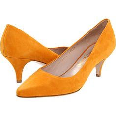 Salvatore Ferragamo: Dalia.  Everyone needs a good mustard color shoe.