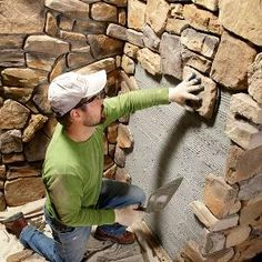 Modern Stone Installation Tips..... I really want to learn this skill.                                                                                                                                                                                 Más