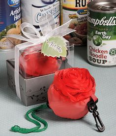 Rose Design Reusable Nylon Bags from Wedding Favors Unlimited