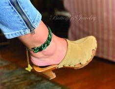 Anklet Bracelet, Anklets, Bracelets, Bohemian Beach Wedding, Boho Green, Butterfly Wedding, Bohemian Jewelry, How To Look Pretty, Bridesmaid Gifts