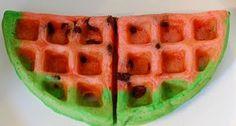 Watermelon waffles! Ww