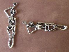 10 Suicide Hanging Hung Skeleton Charm Pendants Gothic Scene Emo Punk Halloween