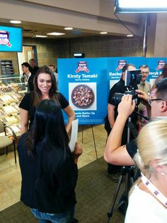 The beautiful @SophieTSimmons chats with @HuffPostCanada inside @TimHortons' #DuellingDonuts! #TimHortons #InsideNKPR