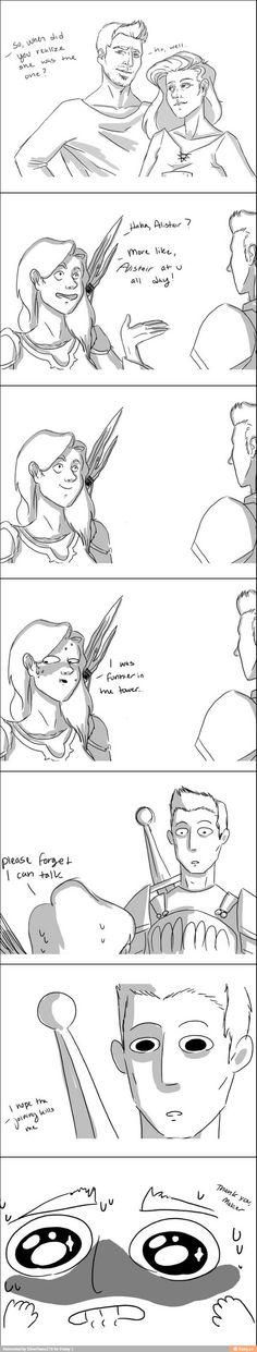 Dragon Age: Origins Alistair has someone to make bad jokes with!