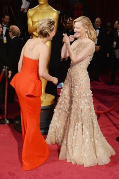 Jennifer Lawrence with Cate Blanchett.