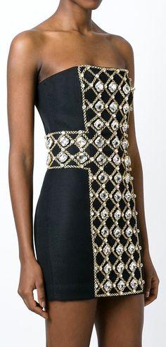 Balmain embellished dress