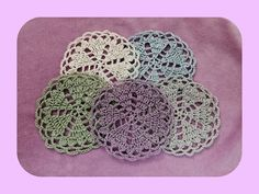 SALE  Spring Coasters Pattern Coasters Set by SuziesTalentPatterns