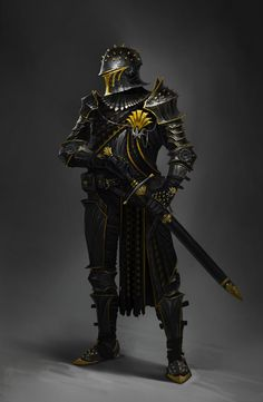 Imperial black legion commanders the most skilled warriors in the empire hands down none can compete against these troops and very few make the cut Medieval Knight, Medieval Armor, Medieval Fantasy, Dungeons And Dragons Characters, Dnd Characters, Fantasy Characters, Fantasy Armor, Fantasy Weapons, Dark Fantasy