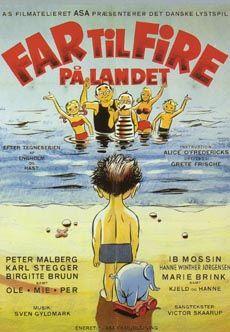 Far til fire på landet (1955) Familien tager på ferie over i Jylland.