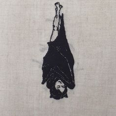 Adipocere - Hand embroidery on natural linen