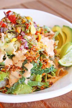 Raw Macho Taco Salad - Vegetarian & Vegan Recipes http://veggiefocus.com