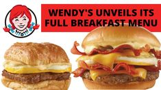 Wendy's Breakfast Review Of All 9 NEW Menu Items Breakfast Menu, New Menu, Menu Items, Hamburger, Ethnic Recipes, Food, Meal, Eten, Hamburgers