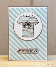 I used Stampin' Up! Tie Dyed Stamp Set as well as Custom Tee to make this card. I'm really pleased with how the tie dyed effect came out!